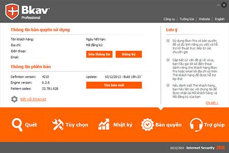 Phần mềm BKAV Pro Inteternet 2